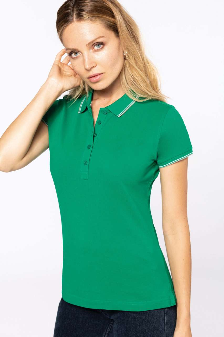 LADIES  SHORT SLEEVE POLO SHIRT a2917b2657