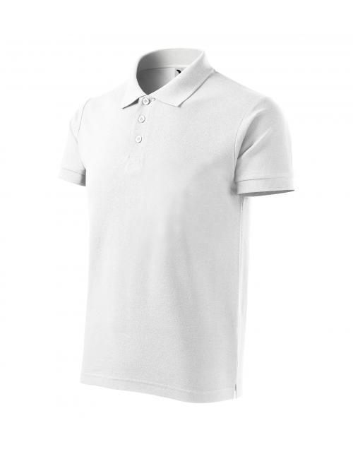 Férfi Cotton Heavy galléros póló fehér S