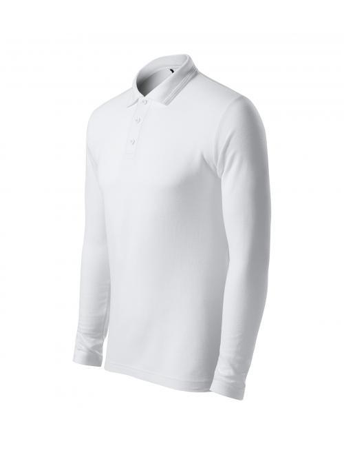 Pique Polo LS férfi galléros póló fehér S