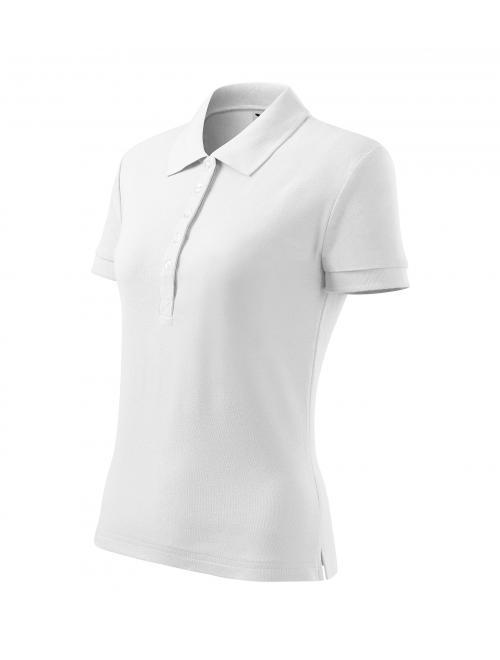 Női Cotton Heavy galléros póló fehér S
