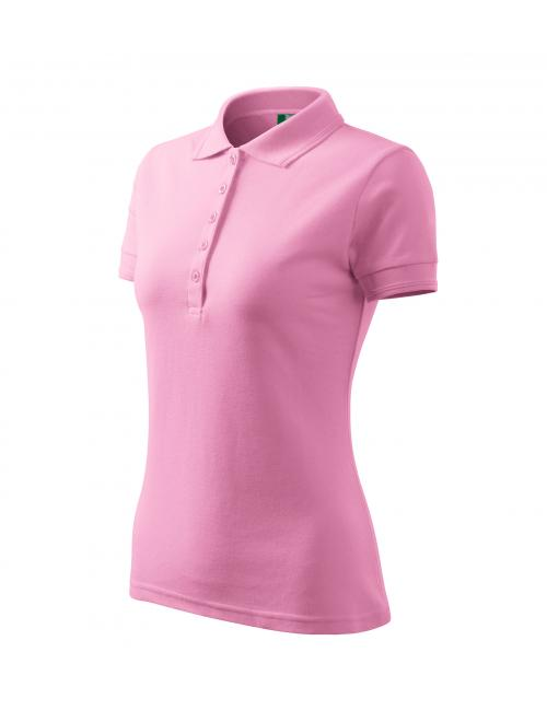Galléros póló női Pique Polo rózsaszín S