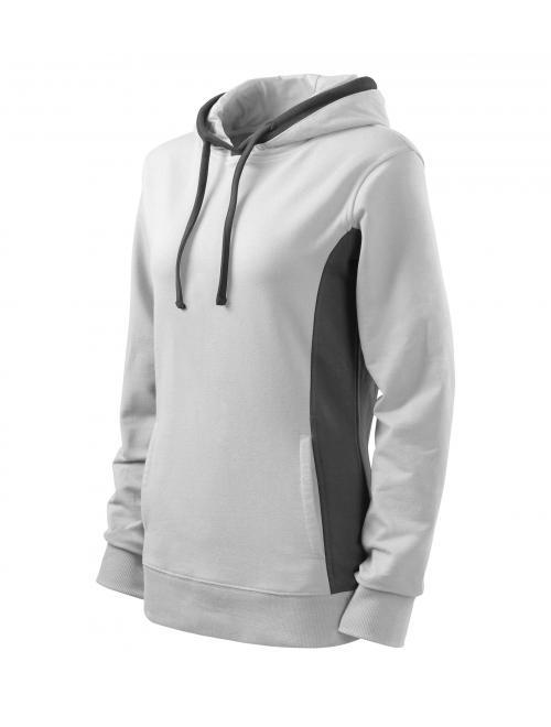Nöi kapucnis pulóver Kangaroo fehér S