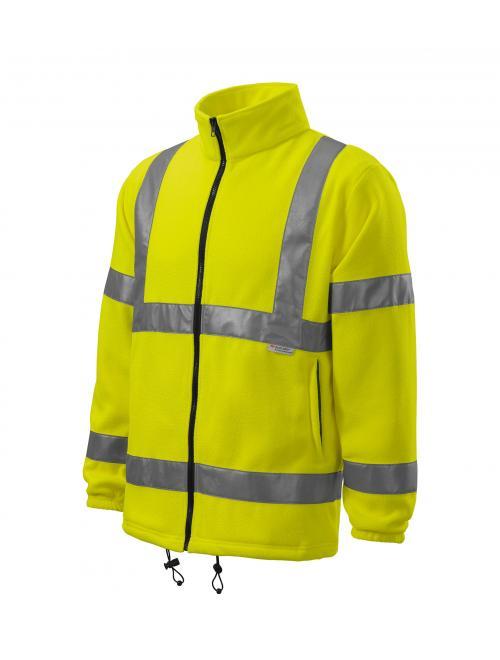 HV Polár Jacket fényvisszaverő sárga M