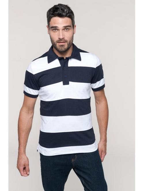 RAY - SEWN STRIPE SHORT SLEEVE POLO SHIRT