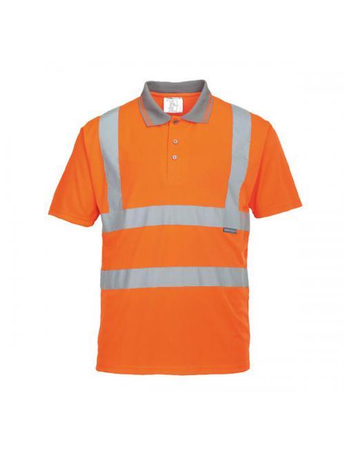 Jól láthatósági teniszpóló vasúti dolgozók részére