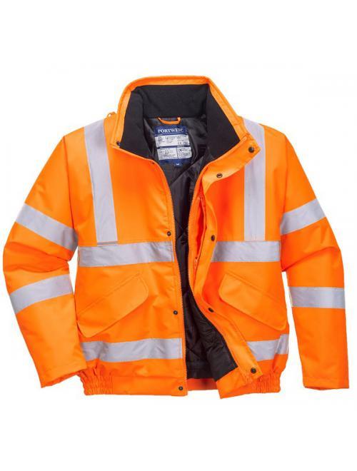HV-Jól láthatósági dzseki vasúti dolgozók részére