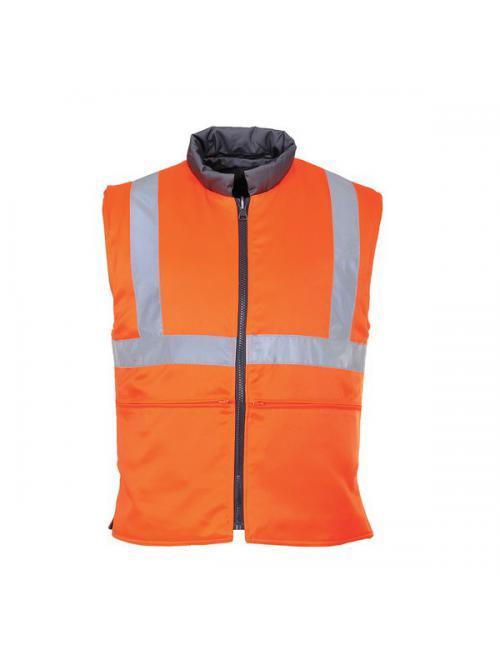 Jól láthatósági kifordítható mellény vasúti dolgozók részére