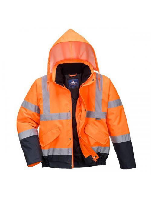 Hi-Vis kéttónusú bomber kabát