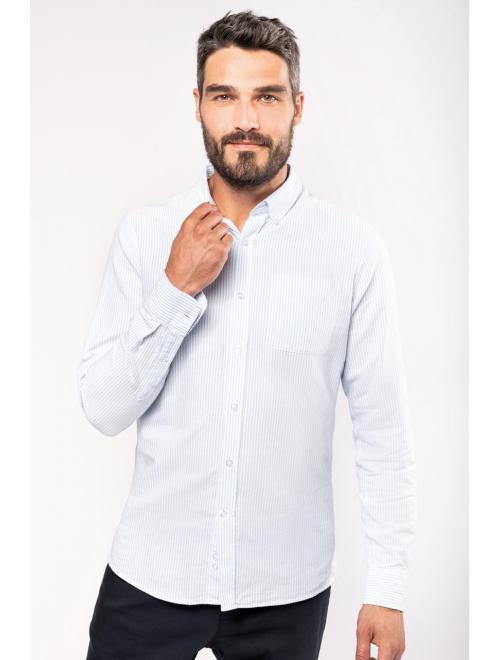 MEN'S LONG SLEEVE WASHED OXFORD SHIRT