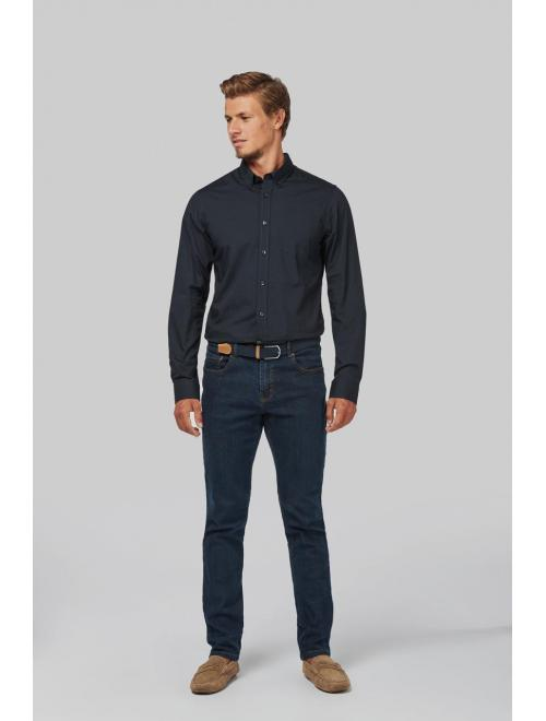 MEN'S LONG SLEEVE WASHED POPLIN SHIRT