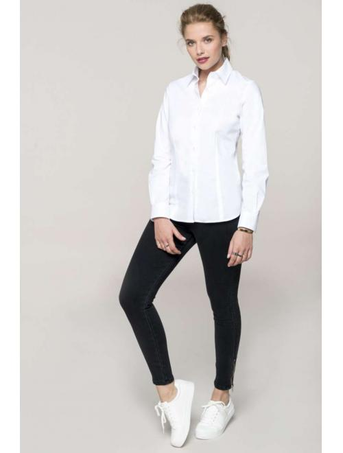 LADIES' LONG SLEEVE STRETCH SHIRT