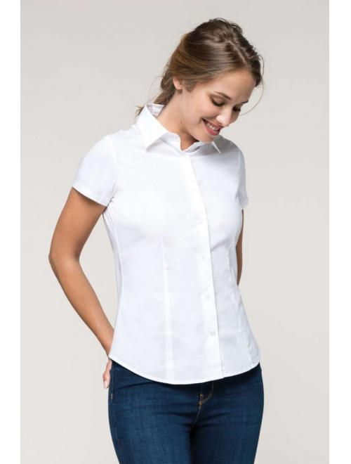 LADIES' SHORT SLEEVE STRETCH SHIRT
