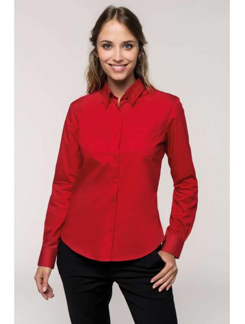 LADIES' LONG SLEEVE EASY CARE COTTON POPLIN SHIRT