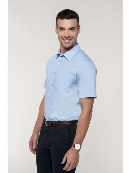 MEN'S SHORT SLEEVE EASY CARE COTTON POPLIN SHIRT