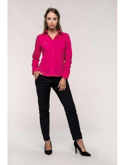 JESSICA - LADIES' LONG SLEEVE EASY CARE POLYCOTTON POPLIN SHIRT