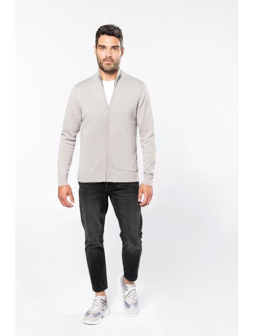 MEN'S ZIP CARDIGAN