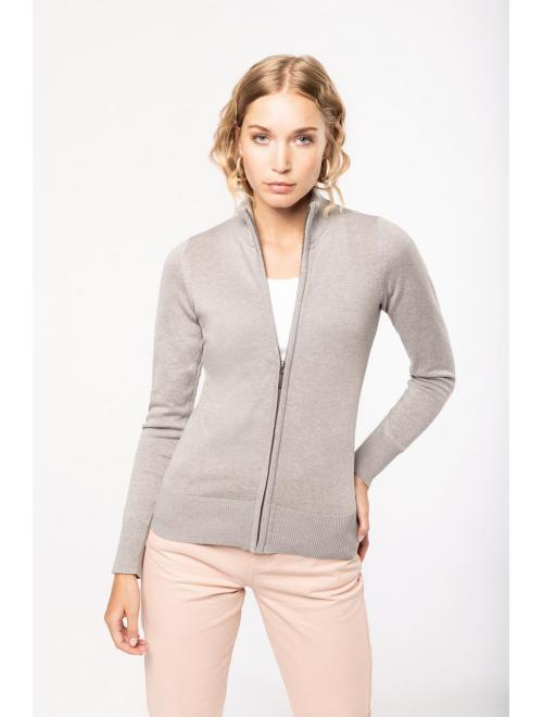 LADIES' ZIP CARDIGAN