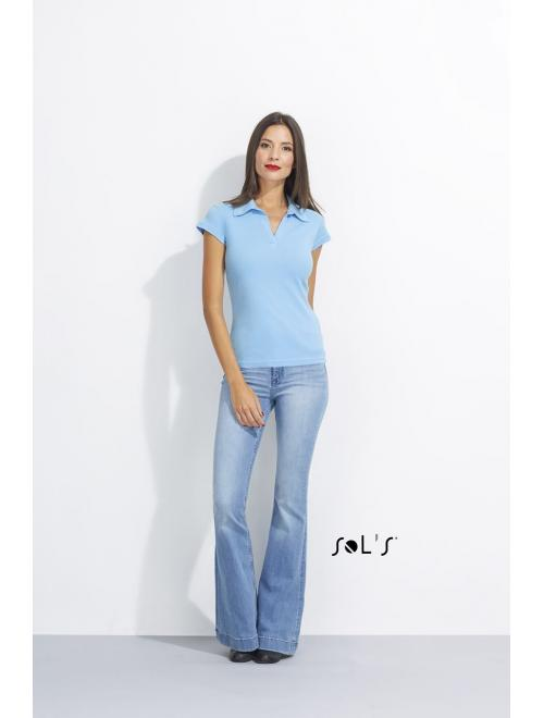 PRETTY WOMEN CAP SLEEVES POLO SHIRT