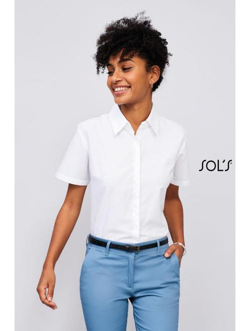 ELITE SHORT SLEEVE OXFORD WOMEN'S SHIRT