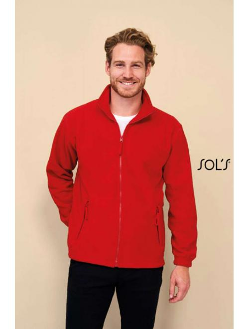 NORTH MEN'S ZIPPED FLEECE JACKET