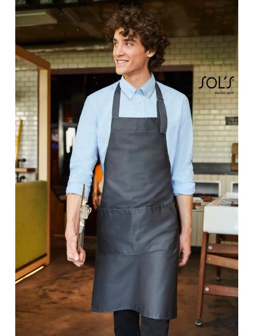GALA LONG APRON WITH POCKETS