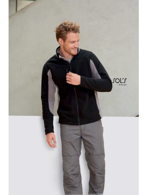 NORDIC MEN'S BICOLOR ZIPPED FLEECE JACKET