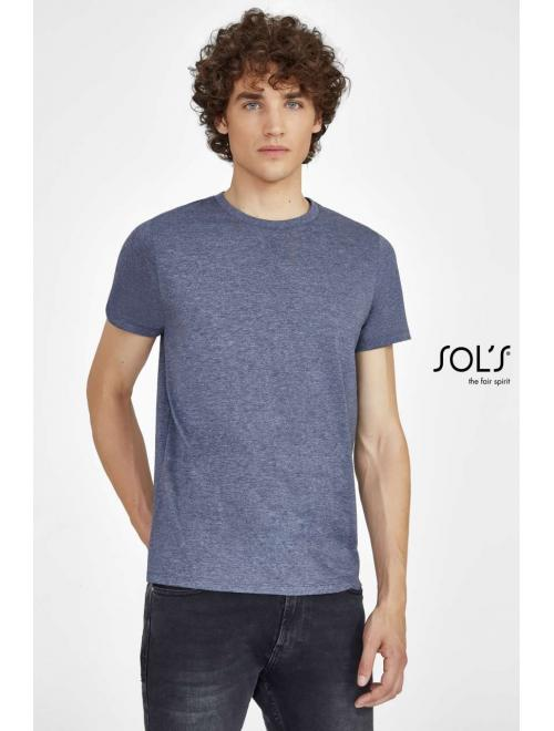 MIXED MEN ROUND COLLAR T-SHIRT
