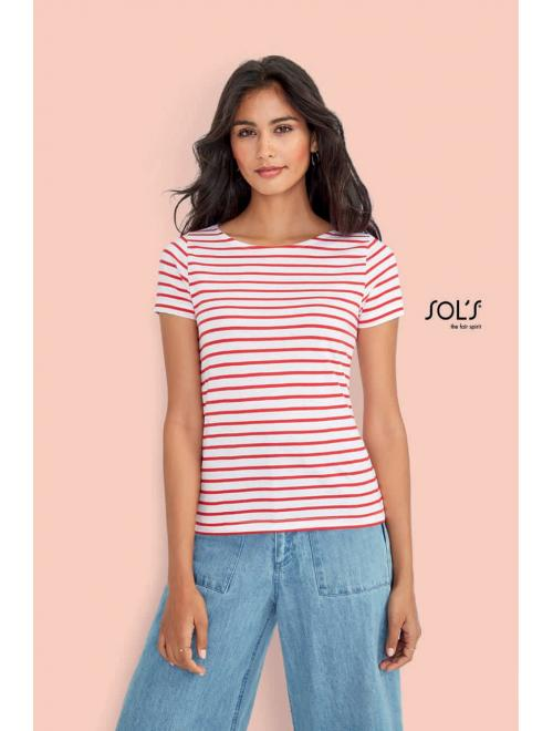 MILES WOMEN ROUND NECK STRIPED T-SHIRT
