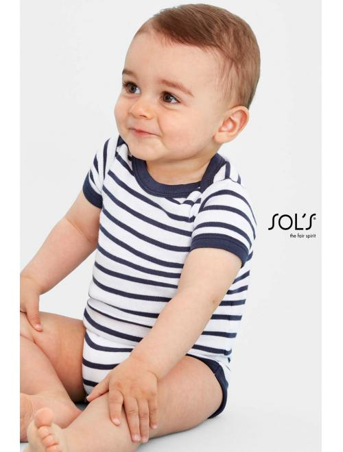 MILES BABY STRIPED BODYSUIT