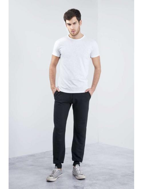 FIT SWEATPANTS WITH RIBBED CUFFS