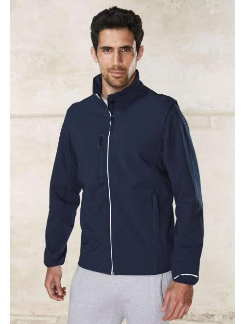 DETACHABLE SLEEVE SOFTSHELL JACKET