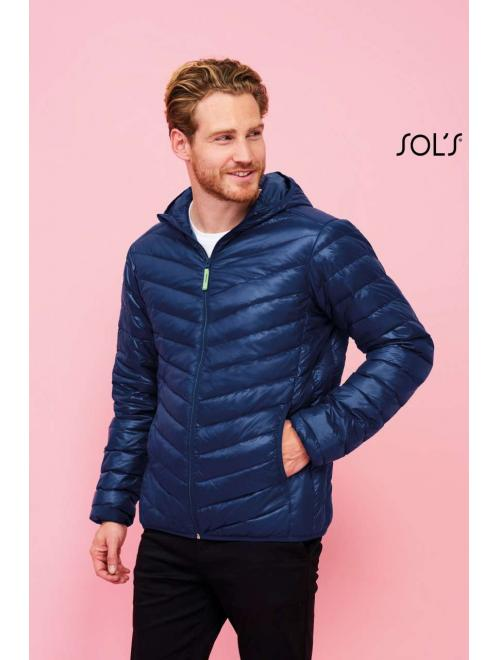 RAY MEN LIGHT HOODED PADDED JACKET