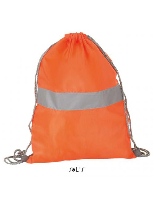 REFLECT DRAWSTRING BACKPACK WITH REFLECTIVE STRIP