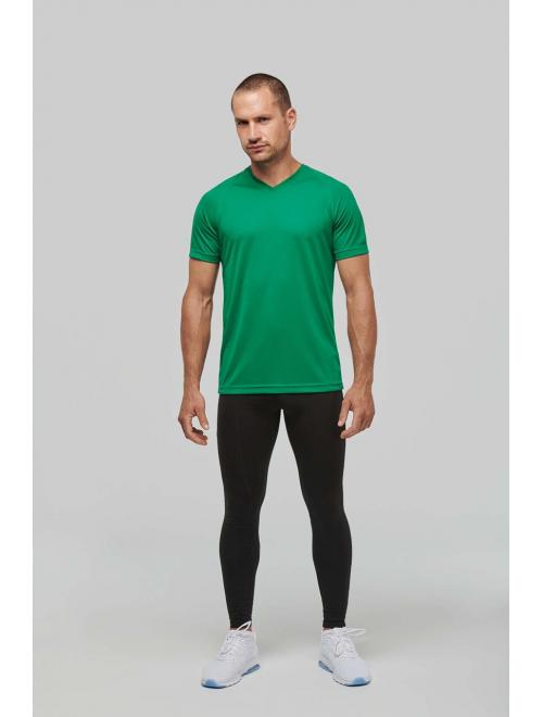 MEN'S V-NECK SHORT SLEEVE SPORTS T-SHIRT