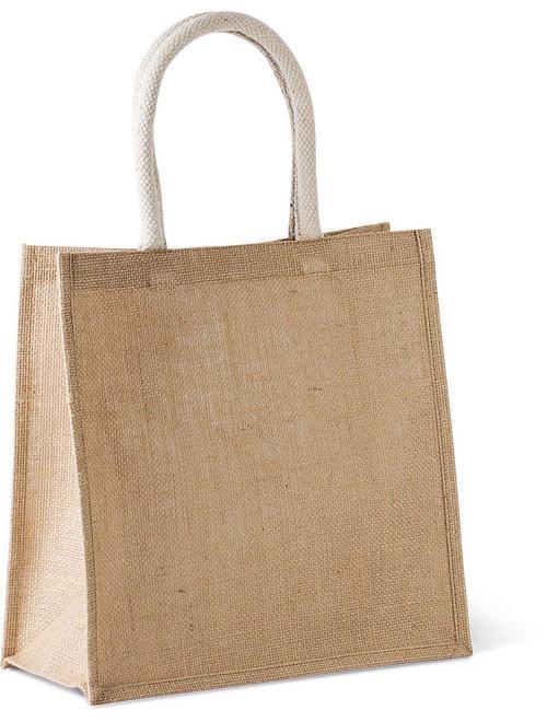 JUTE CANVAS TOTE SHOPPING BAG - Juta bevásárlótáska nagy méret
