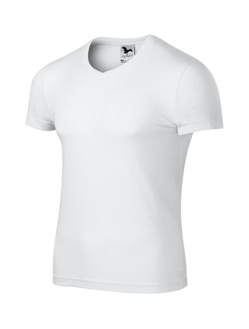 Slim Fit V-neck férfi póló fehér S