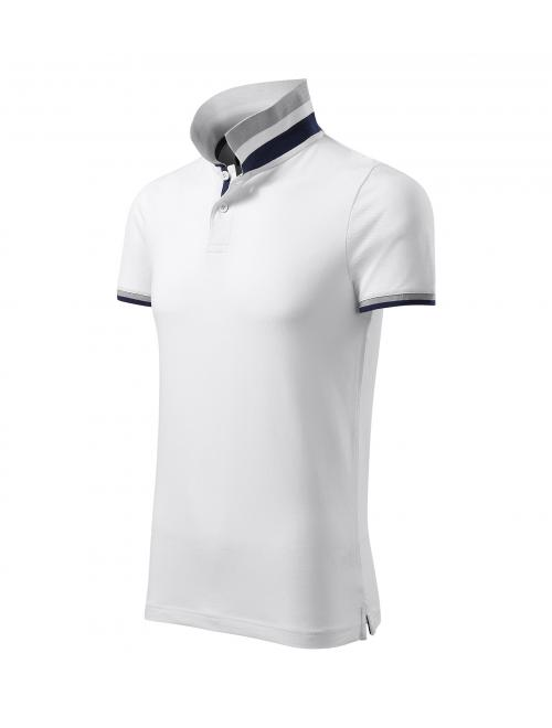 Malfini férfi galléros póló Collar Up fehér S