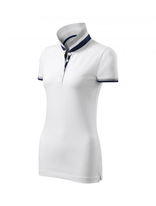Malfini női galléros póló Collar Up fehér S
