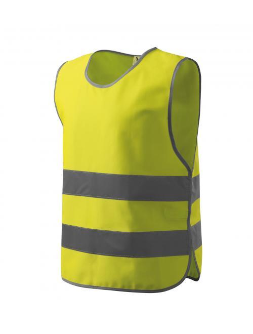 Gyerek biz. mellény Kids Safety Vest fényvisszaverő sárga TM - 119 cm - ig
