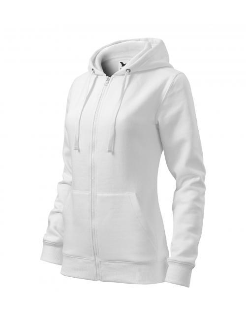 Női felső Trendy Zipper fehér XS