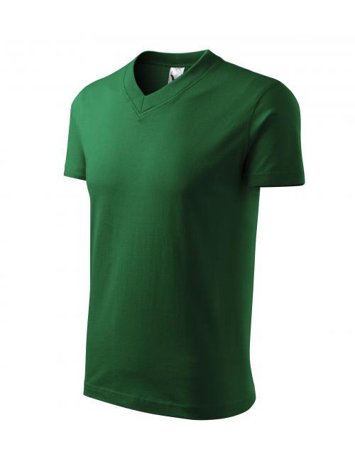 Pólók V-neck üvegzöld S