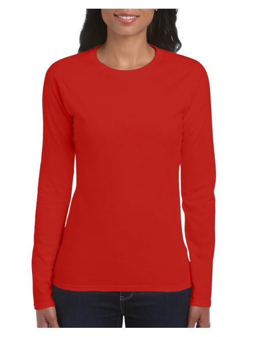 Red Gildan Női hosszú ujjú póló. Kedvező áron. 84dafab5ce