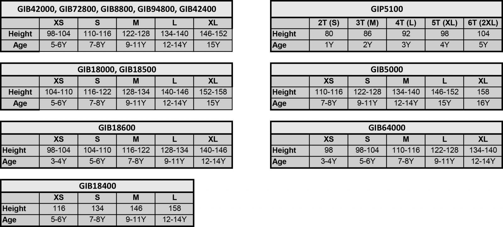 9e417ae591 Gildan, Adler, Kariban, S'ols, Anvil mérettáblázatok és színpaletták